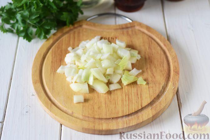 Фото приготовления рецепта: Пирожки из бездрожжевого заварного теста на кефире, с капустой (в духовке) - шаг №7
