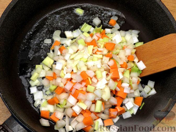 Фото приготовления рецепта: Песочный пирог с курицей и овощами - шаг №9