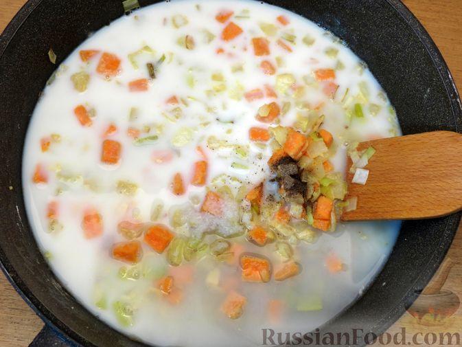 Фото приготовления рецепта: Песочный пирог с курицей и овощами - шаг №11