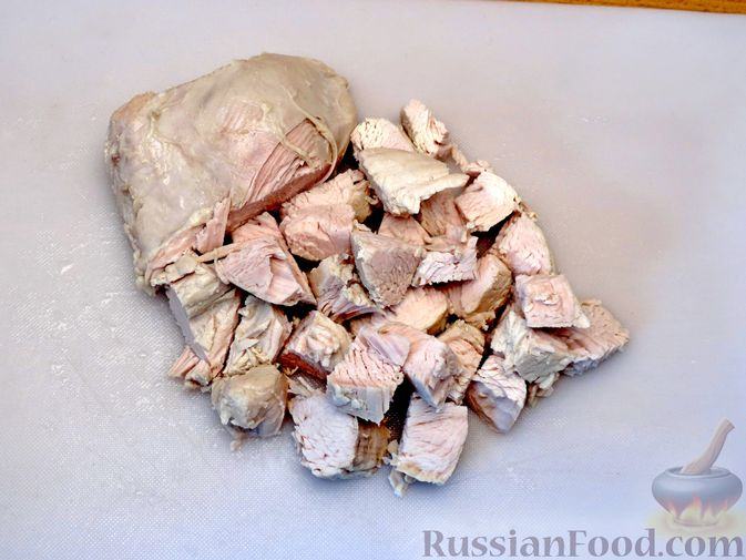Фото приготовления рецепта: Песочный пирог с курицей и овощами - шаг №7