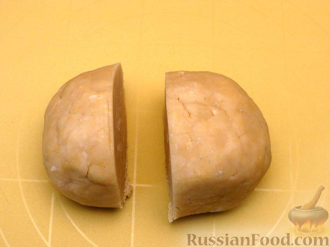 Фото приготовления рецепта: Песочный пирог с курицей и овощами - шаг №13