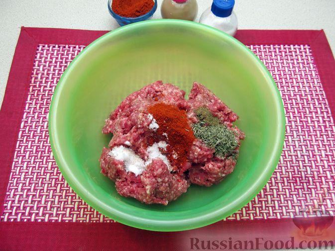 Фото приготовления рецепта: Рис с мясными шариками, помидорами и сладким перцем - шаг №2