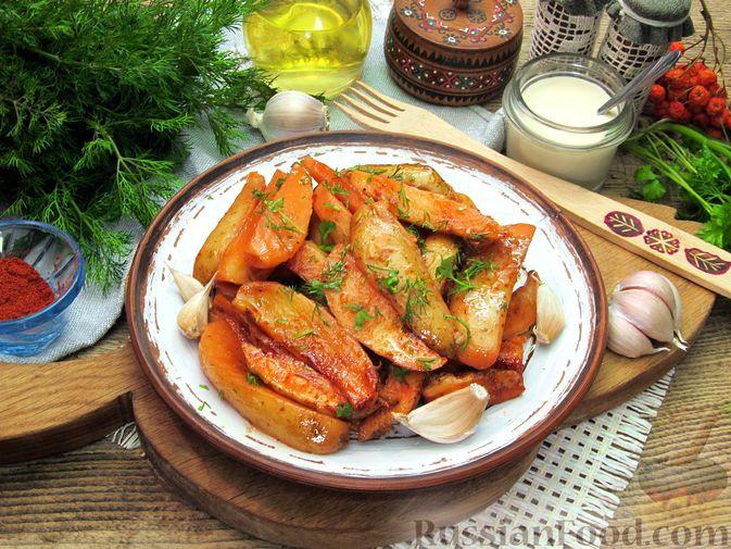Фото приготовления рецепта: Картошка по-деревенски, в микроволновке - шаг №12