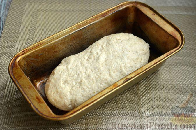 Фото приготовления рецепта: Хлеб на картофельном отваре, с овсянымы хлопьями - шаг №10