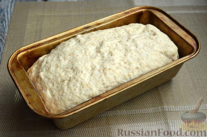 Фото приготовления рецепта: Хлеб на картофельном отваре, с овсянымы хлопьями - шаг №11
