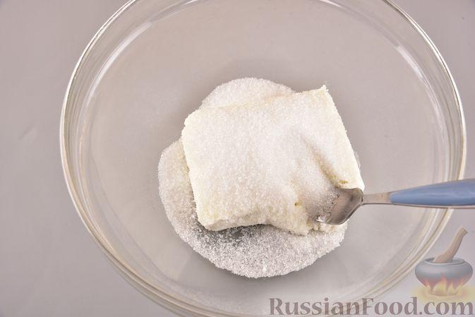 Фото приготовления рецепта: Шоколадный пирог с творожно-кокосовыми шариками - шаг №2