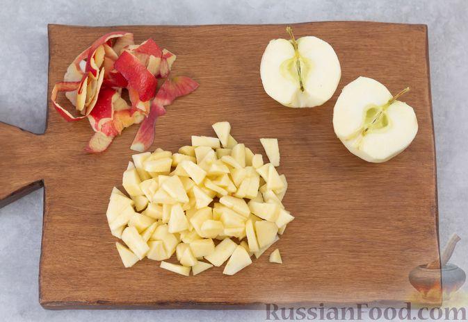 Фото приготовления рецепта: Запечённая манная каша с яблоками - шаг №4