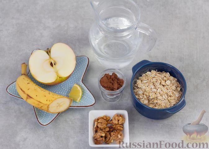 """Фото приготовления рецепта: """"Двойная"""" шоколадная овсянка на воде, с яблочно-банановым пюре - шаг №1"""
