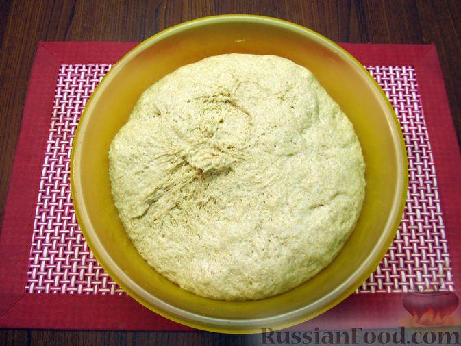 Фото приготовления рецепта: Цельнозерновой пшеничный хлеб с мёдом - шаг №6