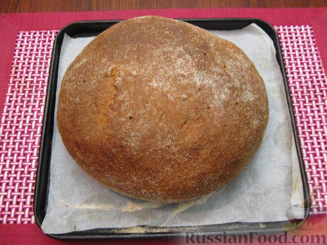 Фото приготовления рецепта: Цельнозерновой пшеничный хлеб с мёдом - шаг №9