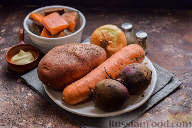"""Фото приготовления рецепта: Салат """"Сёмга под шубой"""" - шаг №1"""