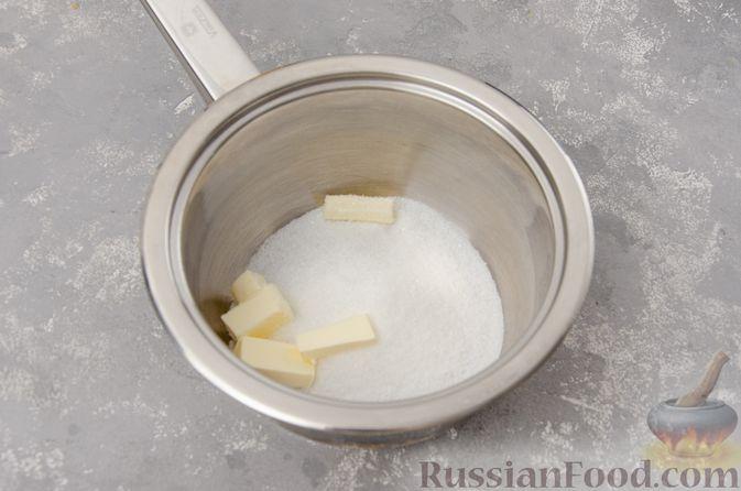 Фото приготовления рецепта: Банановый пирог-перевёртыш (Тарт Татен) - шаг №7