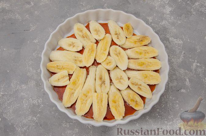 Фото приготовления рецепта: Банановый пирог-перевёртыш (Тарт Татен) - шаг №10