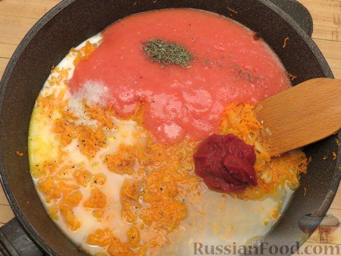 Фото приготовления рецепта: Рыбные тефтельки в томатном соусе - шаг №19