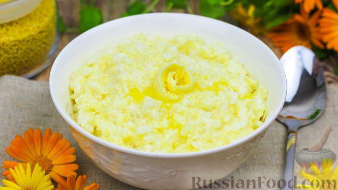 """Фото к рецепту: Каша """"Дружба"""" из пшена и риса, на молоке"""