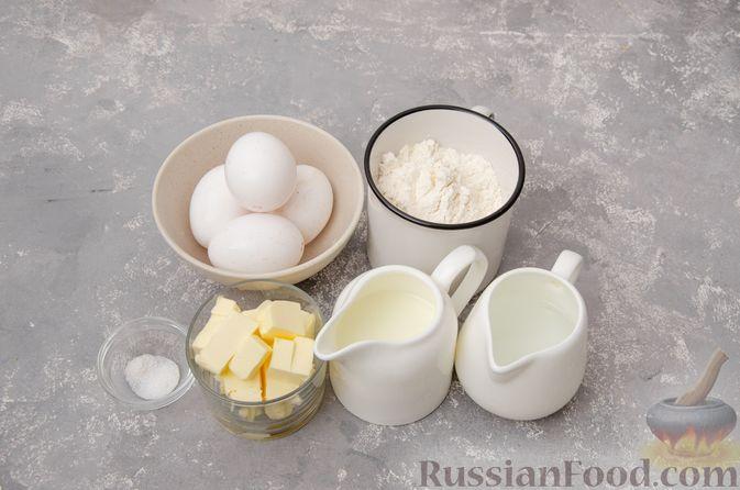 Фото приготовления рецепта: Профитроли со сливочным кремом и шоколадной глазурью - шаг №1