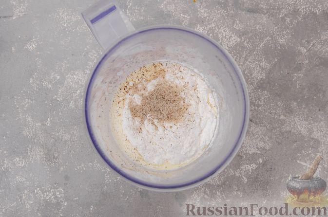 Фото приготовления рецепта: Профитроли со сливочным кремом и шоколадной глазурью - шаг №14