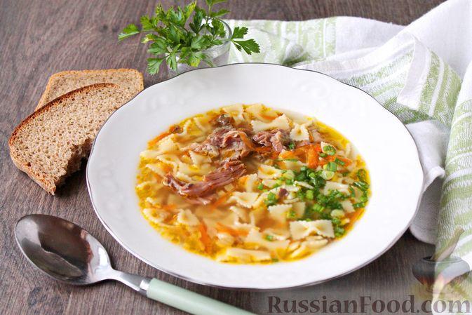 Фото к рецепту: Суп с тушенкой и макаронами
