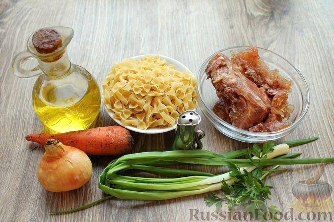 Фото приготовления рецепта: Суп с тушенкой и макаронами - шаг №1