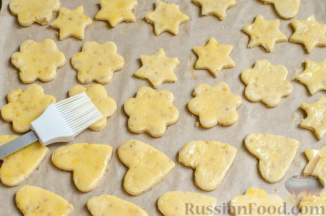 Фото приготовления рецепта: Песочное печенье с орехами - шаг №15