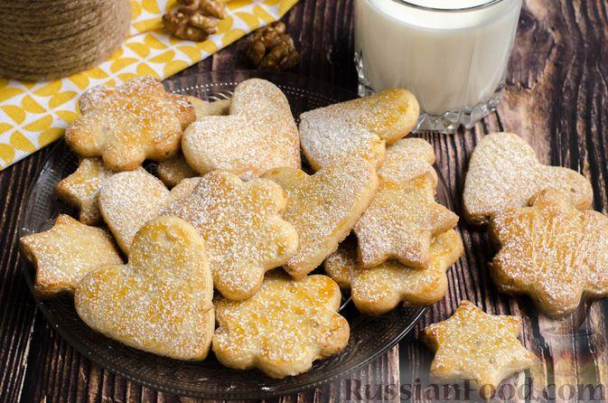 Фото приготовления рецепта: Песочное печенье с орехами - шаг №18
