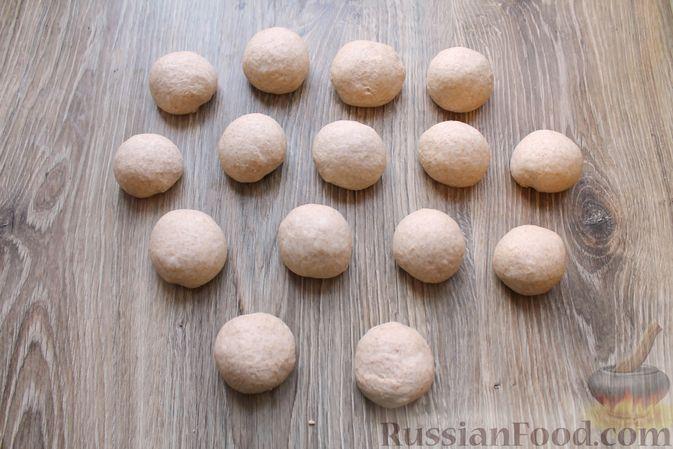 Фото приготовления рецепта: Булочки из цельнозерновой муки - шаг №15