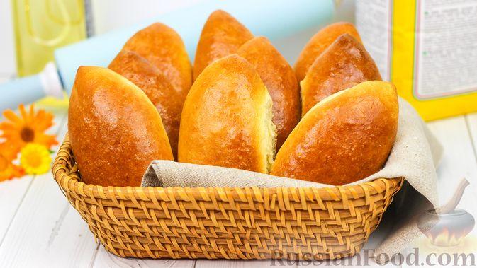 Фото к рецепту: Пирожки с яйцом и зелёным луком (в духовке)