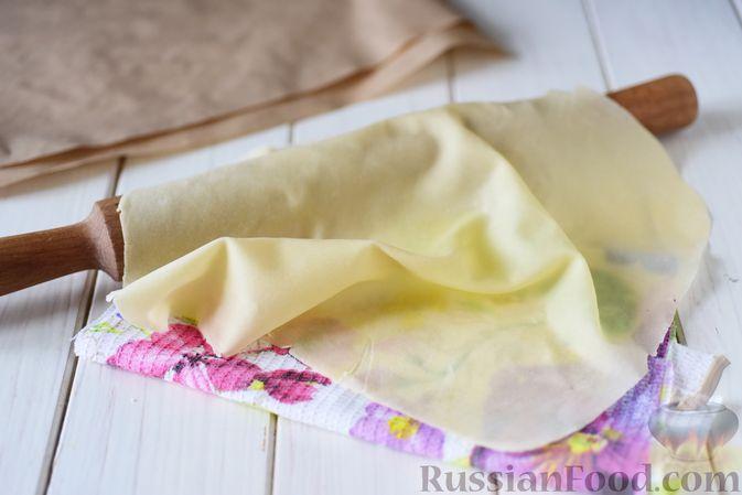 Фото к рецепту: Вытяжное тесто фило в домашних условиях