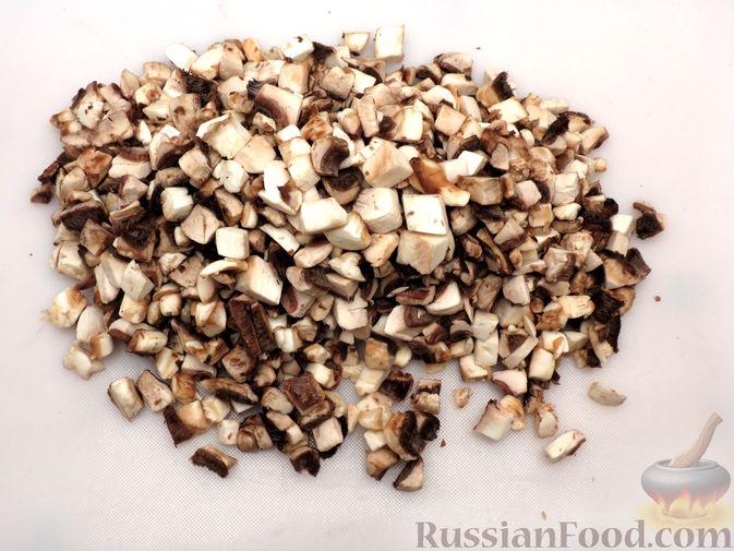Фото приготовления рецепта: Зразы из индейки с шампиньонами и сыром (в духовке) - шаг №2