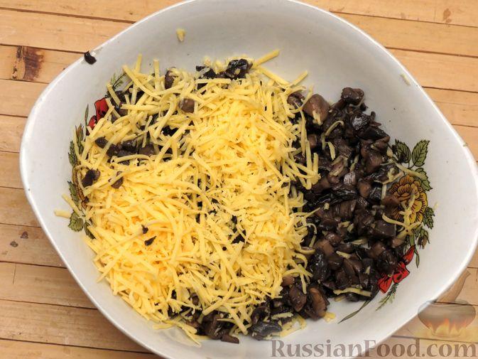 Фото приготовления рецепта: Зразы из индейки с шампиньонами и сыром (в духовке) - шаг №6