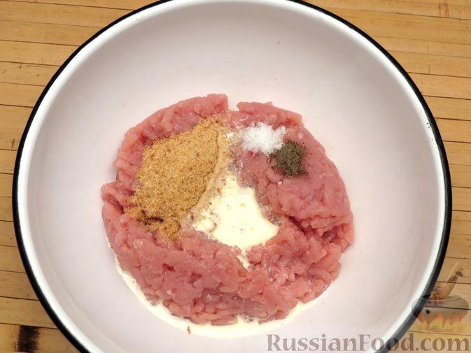 Фото приготовления рецепта: Зразы из индейки с шампиньонами и сыром (в духовке) - шаг №4