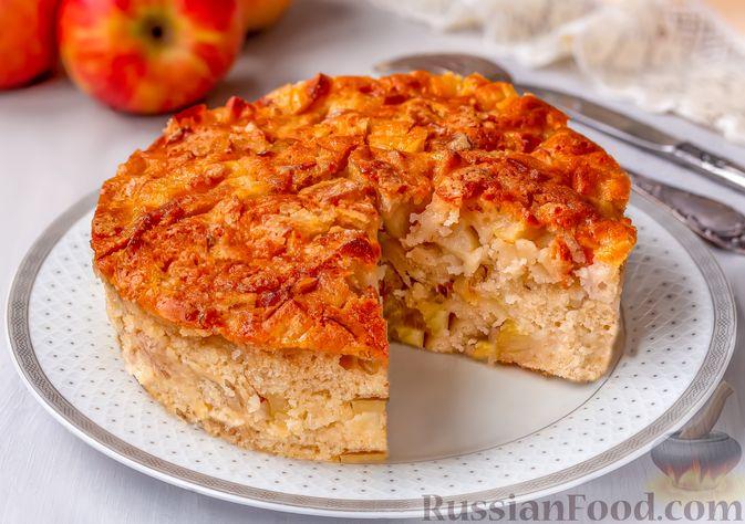 Фото к рецепту: Постный яблочный пирог