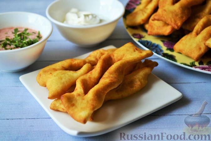 Фото к рецепту: Несладкий картофельный хворост
