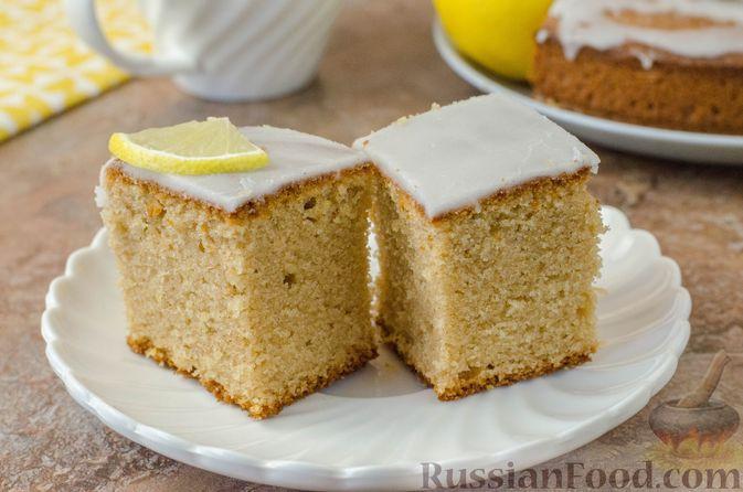 Фото к рецепту: Лимонный пирог на гречневой муке