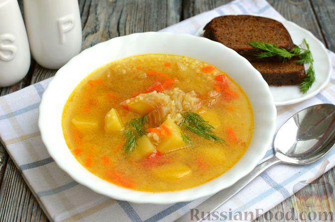 Фото к рецепту: Рыбный суп с кускусом