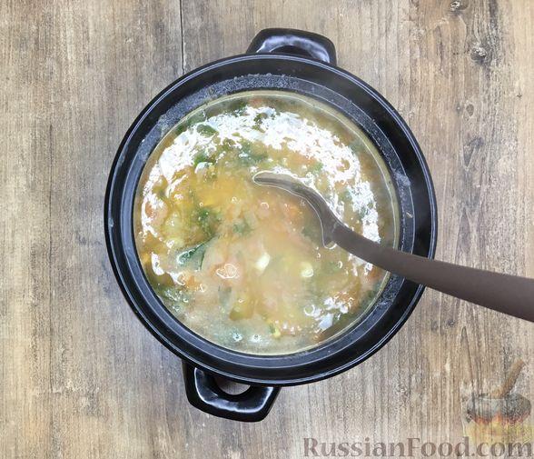 Фото приготовления рецепта: Суп из красной чечевицы с помидорами - шаг №9