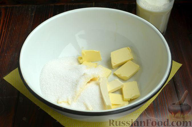 Фото приготовления рецепта: Лимонный кекс с сиропом - шаг №4