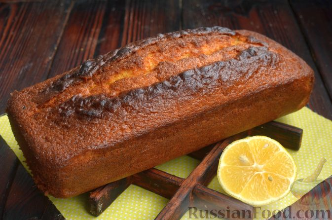 Фото приготовления рецепта: Лимонный кекс с сиропом - шаг №11