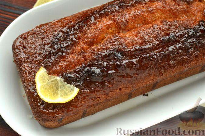 Фото приготовления рецепта: Лимонный кекс с сиропом - шаг №15