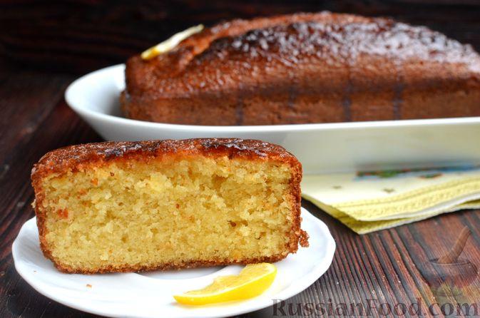 Фото приготовления рецепта: Лимонный кекс с сиропом - шаг №16