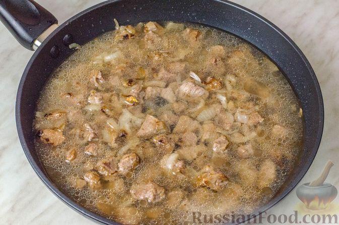 Фото приготовления рецепта: Говядина, тушенная с овощами и фасолью - шаг №6