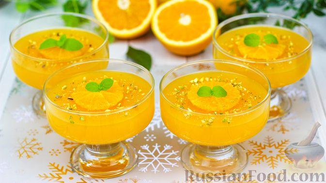 Фото к рецепту: Апельсиновое желе