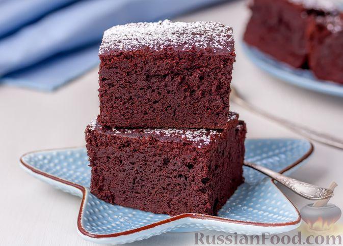 Фото к рецепту: Шоколадный пирог из фасоли (без муки)