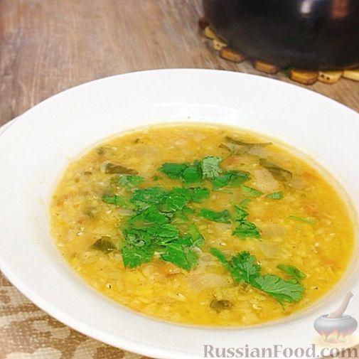 Фото к рецепту: Суп из красной чечевицы с помидорами