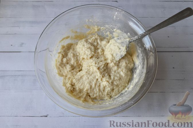 Фото приготовления рецепта: Сдобные булочки на мучной заварке, с вареньем - шаг №14