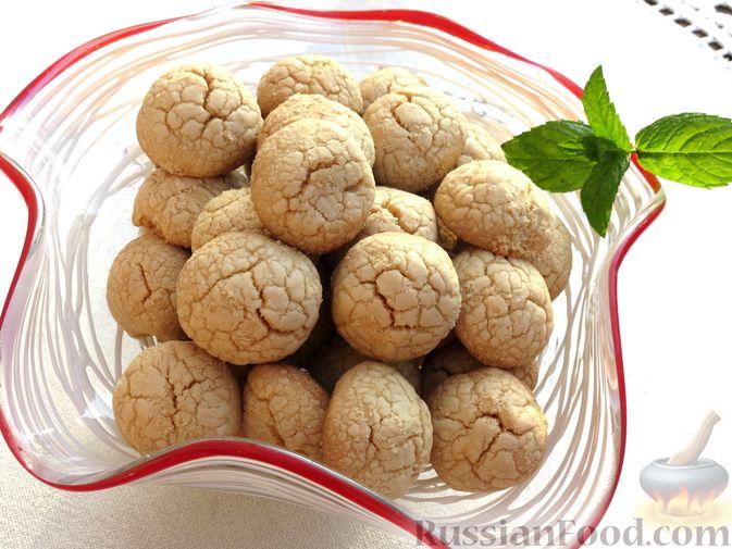 Фото к рецепту: Песочное печенье из жареной муки