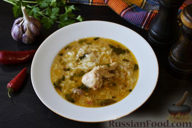 "Фото к рецепту: Суп ""Харчо"" с курицей"