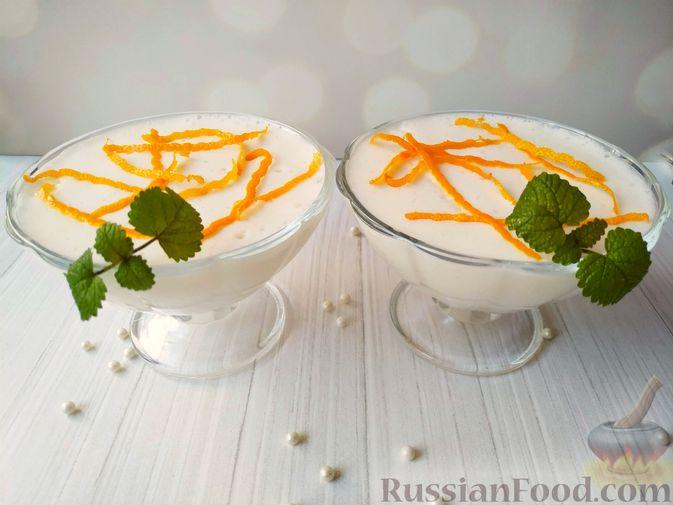 Фото к рецепту: Цитрусовый мусс с манной крупой