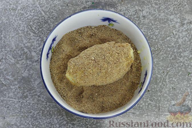 Фото приготовления рецепта: Зразы из риса с мясным фаршем, на сковороде - шаг №14