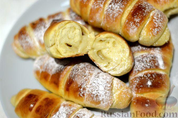 Фото приготовления рецепта: Сдобные булочки с пудингом - шаг №21